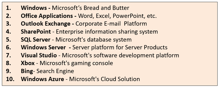 Microsoft's Product Portfolio